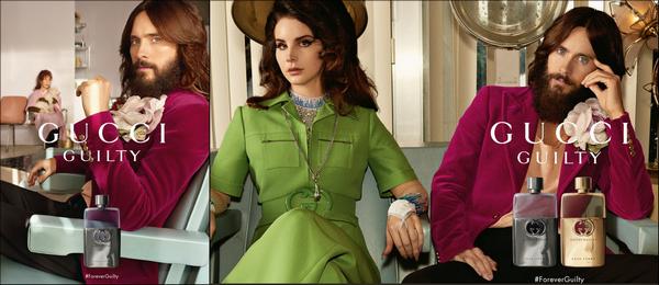 . Jared Leto et Lana Del Rey sont les nouvelles égéries des parfums  « Gucci Guilty »   .