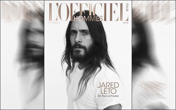 . Jared Leto fait la couverture du magazine « l'Officiel hommes italia »  de 2020  .