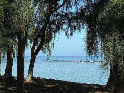 un coin de plage à l'ouest de l'île