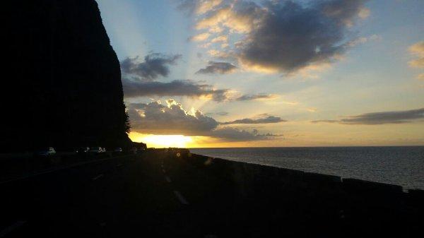 Coucher de soleil sur le littoral