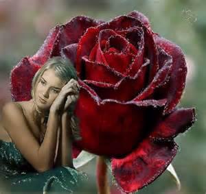 Femmes élégantes font dans la belle fleur dans mon c½ur, je respecte et admire son et je l'aime