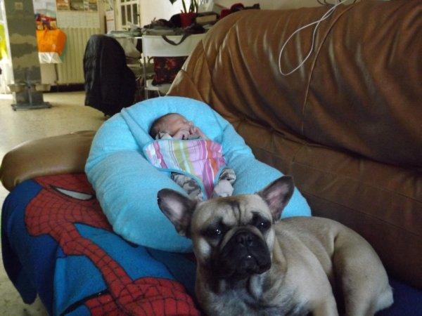 Avec mon nouveau petit maitre Mael