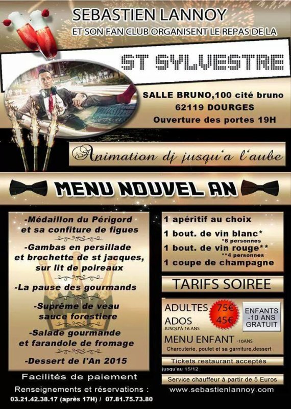 Saint sylvestre - nouvel an 2015