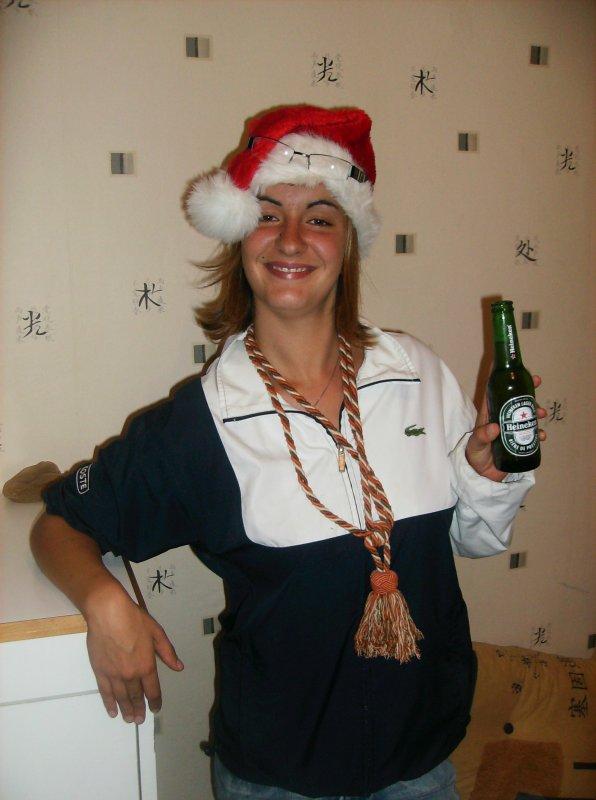 La mère Noel fait de la pub pour Heineken !