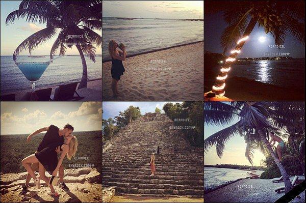 ~ 5 au 10/01/2015 : Candice était en vacances au Mexique avec son compagnon Joe King, et ses deux belles filles (Ava et Elise) . Les deux tourtereaux nous ont fait partagé quelque photos de leurs vacances sur les réseaux sociaux. ♥