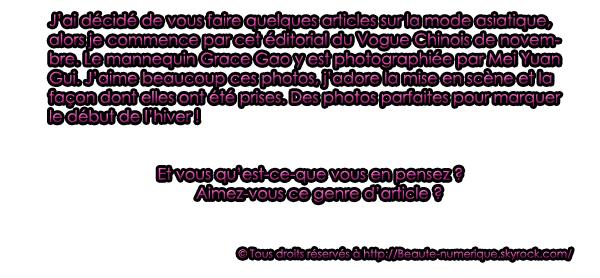 ~ Photoshoot: Magnifique série mode...
