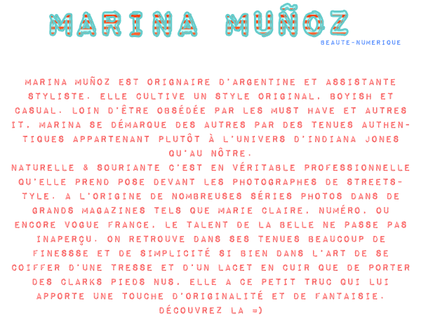 ~ Personnalité: Marina ou le naturel par excellence