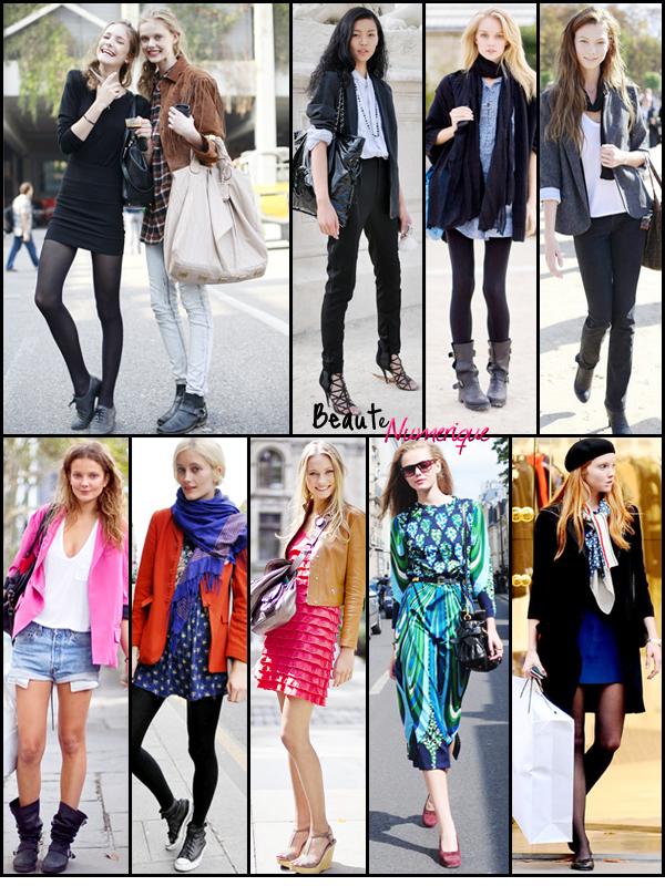~ Streetstyle: aperçu du style des mannequins!