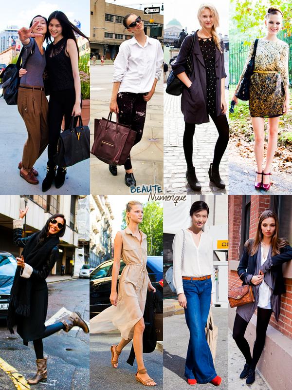 ~ Streetstyle: les mannequins durant les fashion week cette saison