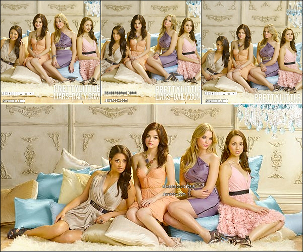 .Promoshoot pour la saison de 2 de la série « Pretty little Liars »_____-_--__ Vous aimez? .