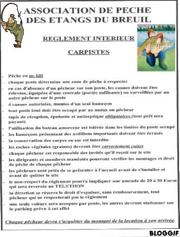RÈGLEMENT DES ETANGS