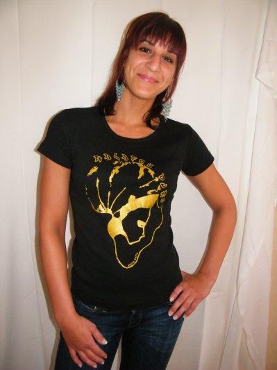 tee shirt plusieurs modèles disponible noir et or 10.90 euros