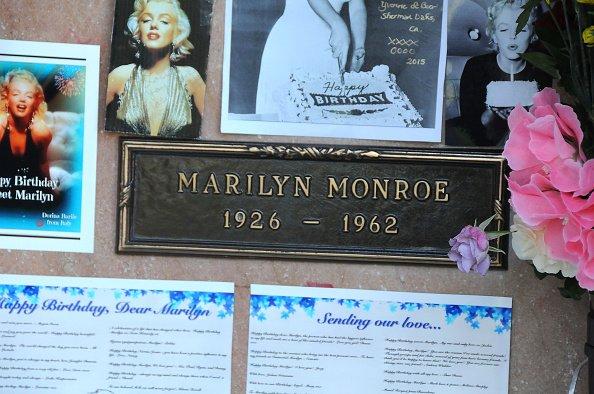 Le Westwood Village Memorial Park  se souvint de l'anniversaire de Marilyn Monroe  le 1 Juin, 2015 Westwood, en Californie.