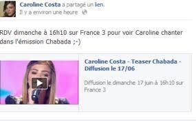 Caroline dans Chabada le 17 juin  ♥