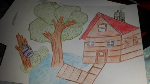 petite maison au bord du lac
