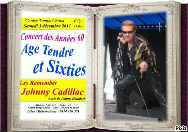 """concert johnny cadillac  le 3 decembre 2011 """"au temps choisi"""" a gilly a partir de 15 h"""