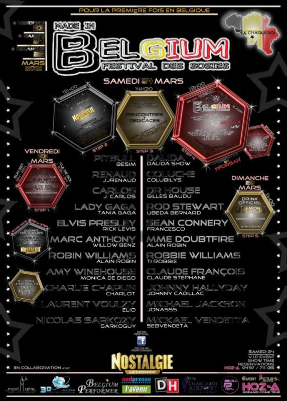 FESTIVAL DES SOSIES LE 23 ET 24 MARS 2012