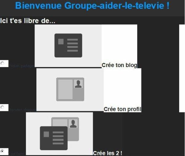 Salut Groupe-aider-le-televie Fermeture de compte je comprend pas as peine créer le blog est fermer