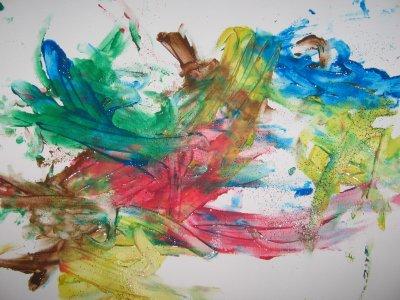 aujourd'hui petit moment de peinture avec alexis