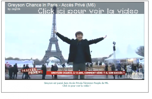 Le 08 avril 2011. Greyson en France + Duo avec Cody Simpson , on fait le plains de news.