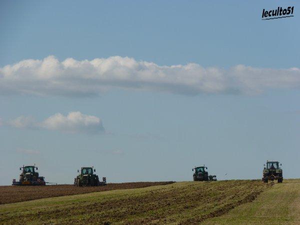 chantier de semis de blé de luzerne
