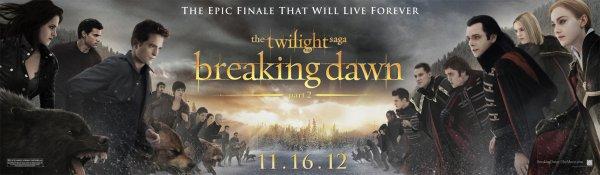 """Nouvelle bannière + affiche française de """"Breaking Dawn part 2""""."""