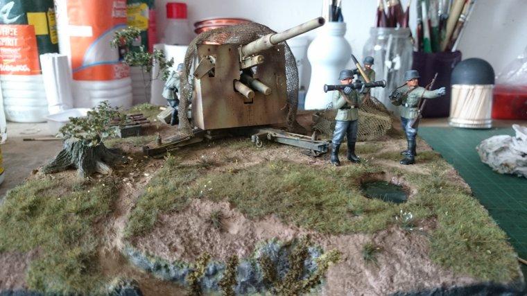artilleur de la 21.pz-div Normandie plaine de Caen
