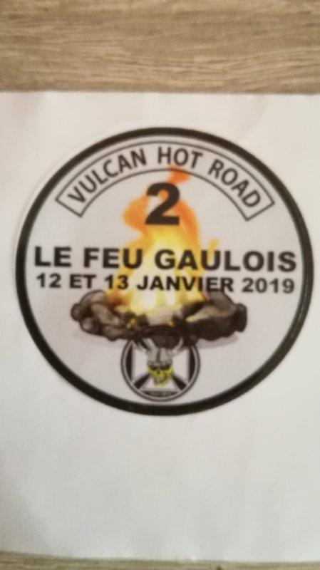 2ème feu gaulois du MCP VULCAN HOT ROAD à Chatel Guyon 63, 12 & 13 janvier 2019