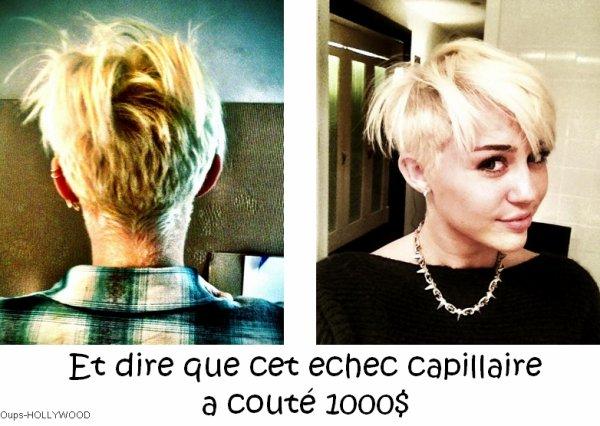 : La nouvelle coupe MAGNIFIQUE de Miley Cyrus :
