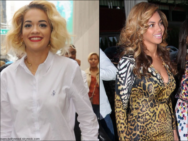 : Et dire que certains prennent Rita Ora pour le sosie de Beyonce :