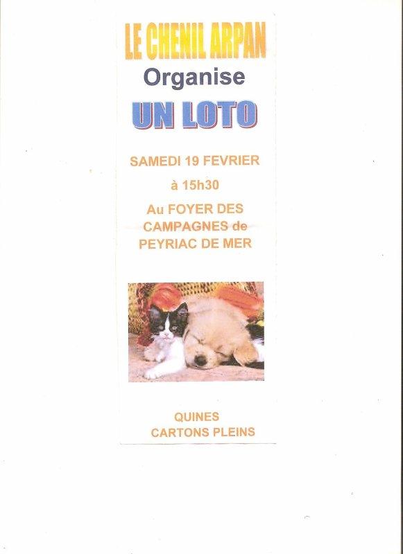 Le loto du refuge d'ARPAN...
