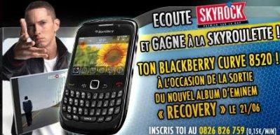 La Skyrock roulette spécial Eminem et Blackberry