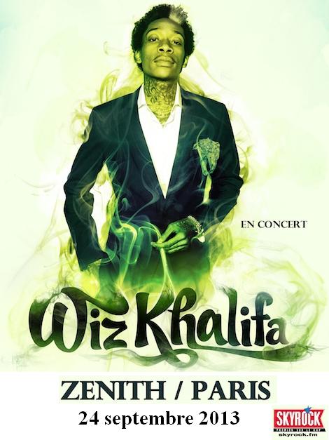 Concerts Skyrock: Wiz Khalifa, Asap Rocky