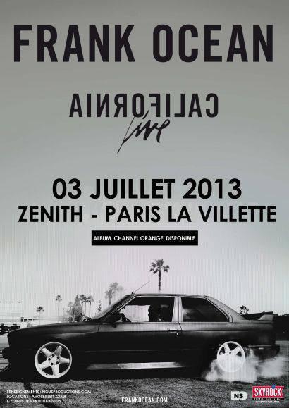 [ Concert Skyrock ] • Retrouve Frank Ocean au Zénith de Paris