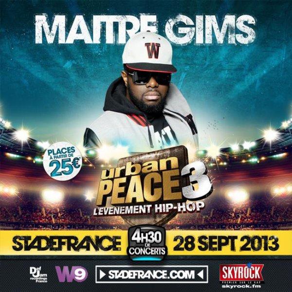 Urban Peace 3 → Maître Gims rejoint l'événement pour un set en solo !