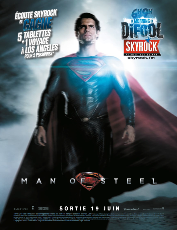 Man Of Steel, un film Skyrock !