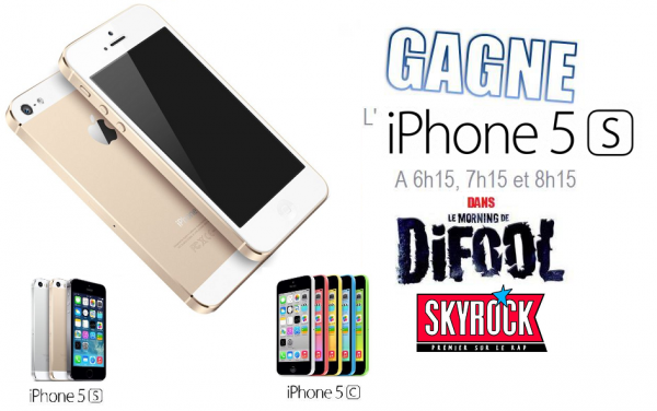Iphone 5S sur Skyrock