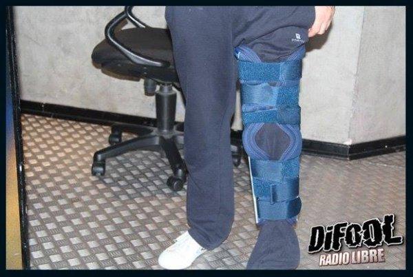 Romano et sa jambe