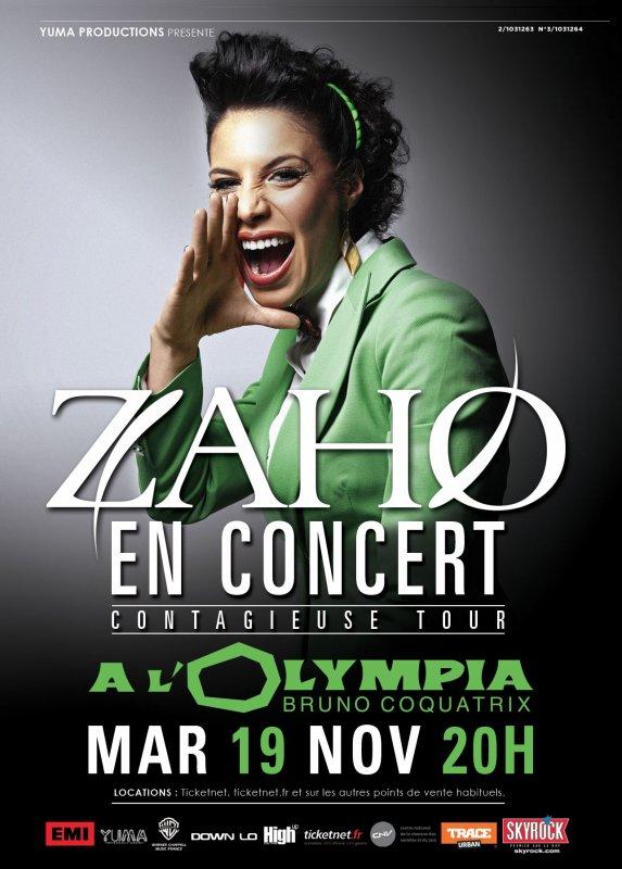 ZAHO à l'Olympia
