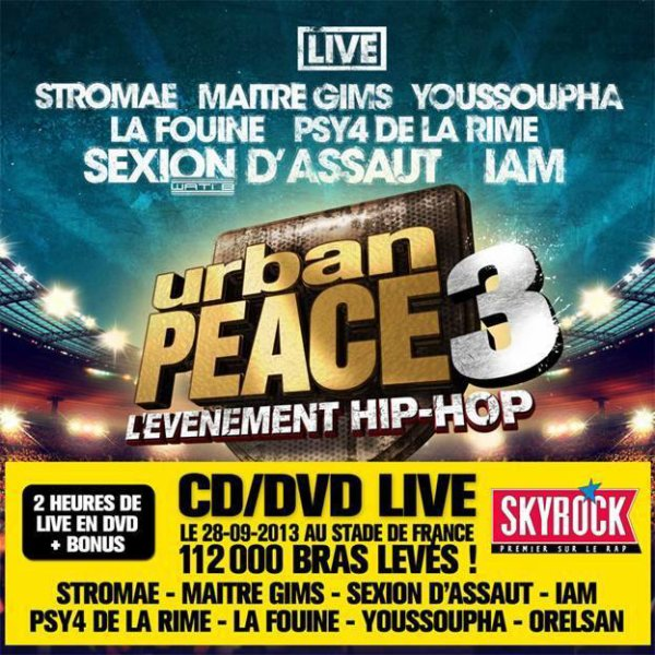 Urban Peace 3 LIVE: le CD/DVD