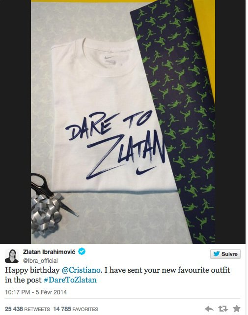 Zlatan offre un cadeau à Cristiano Ronaldo