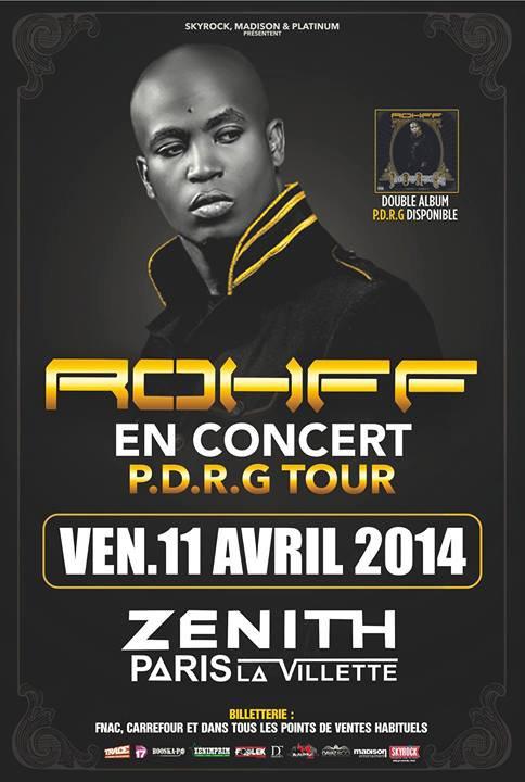 Rohff en concert au Zénith de Paris