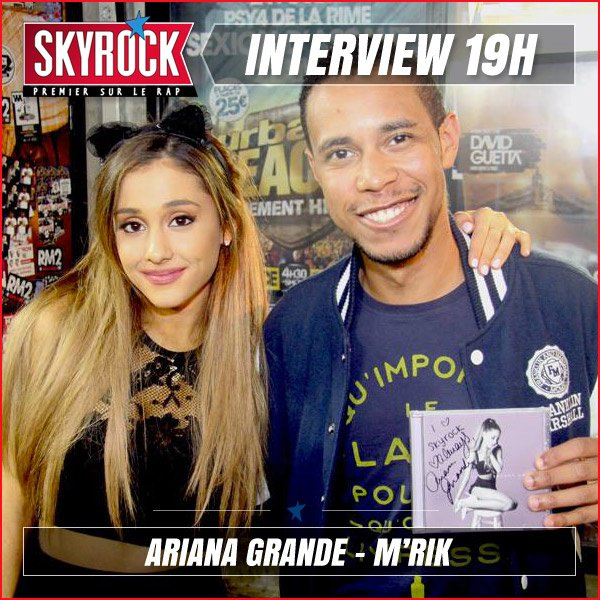 Ariana Grande en Interview avec M'rik à 19h !
