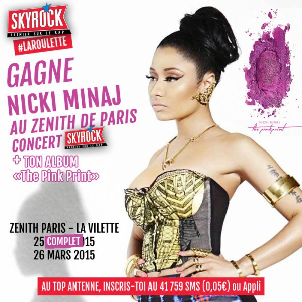 "Gagne Nicki Minaj ""The Pink Print"" concert + Album !"