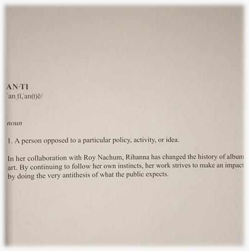 Rihanna - Nouvel Album 'Anti' - Découvrez la cover !