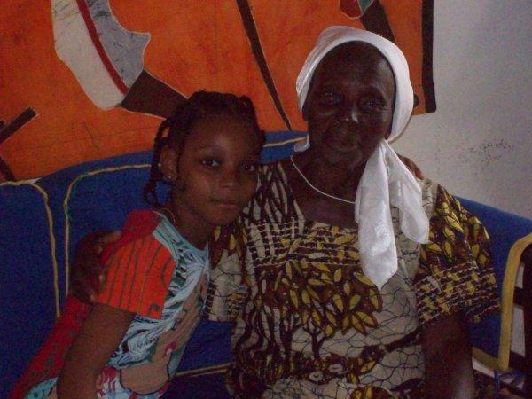 moi et ma grand mère a lage de 10 ans