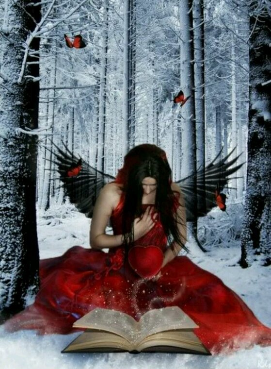Mon.coeur.se.livre dans.coeur de.neige