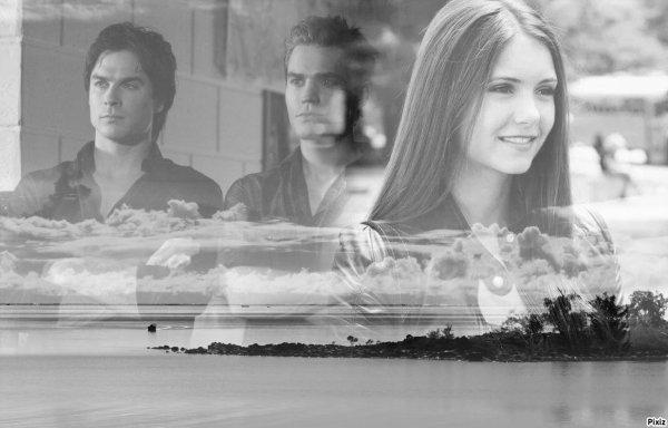 Damon et elena et stefan