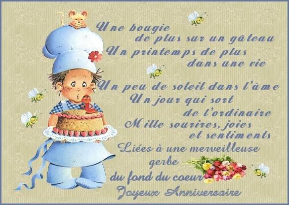 poeme anniversaire de mon fils 3 ans