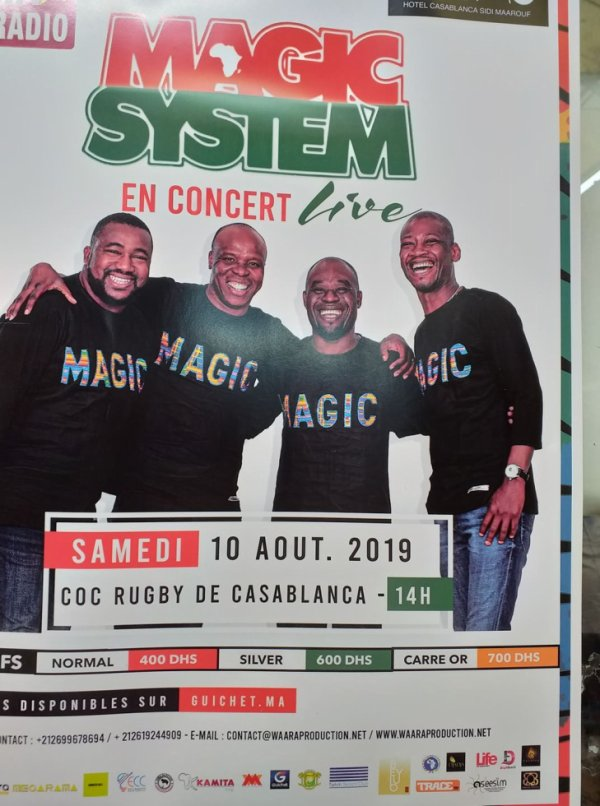 magic system concert maroc casablanca  j adore